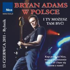 Bryan Adams in Polonia. Rambit aiuterà a guadagnare un biglietto per l'unico concerto in Polonia