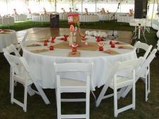 Wynajem stołów okrągłych - organizacja imprezy