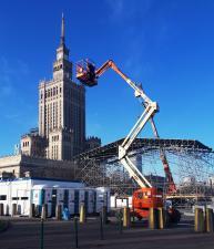 Trwa budowa warszawskiego Centrum 26. Finału WOŚP